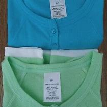 2 New 100% Cotton Active Wear Layered Tops From Avon /turquoise Shades Light Gr Photo