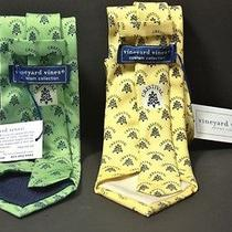 2 Nwt Mens Vineyard Vines River Crest Country Club Crestival Silk Tie Neckties  Photo