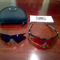 2 Oakley M Frames Sunglasses With Custom Lens Cover and Case Photo