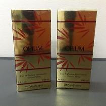2 Opium Women Yves Saint Laurent 1.6 fl.oz 50 Ml Eau De Parfum Spray Sealed Box  Photo