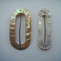 2 Original Art Deco Mother of Pearl Belt Buckles Photo