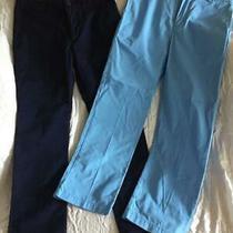 2 Pair Boys Cotton Dress Pants Gap Vineyard Vines Size 14 Regular -- Euc Photo