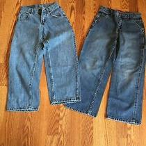 2 Pair Boys Jeans Kids Clothing Size 8 Guess and Lee Blue Jeans Photo