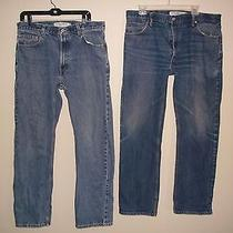 2 Pair Levi's 505 Regular Fit & Straight Fit Jeans 36x32  Photo