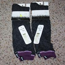 2 Pair of Kensie Boot Socks Contrast Cuff Sock Black Style 03795 New 9-11 Photo