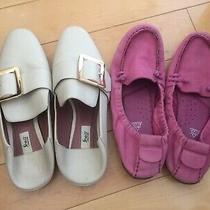 2 Pair Shoes Hush Puppies Us 7 Ballerina Flats Bally Loafers Photo