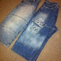 2 Pairs of Size (38) Guys Shorts Names (Elementmecca) Both Pairs Color Blue Photo