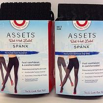 2 Pairs Spanx Assets Red Hot Label Black Shaping 3d Tights Zig-zag&coil Sweater Photo