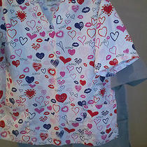2 Pc Lot Natural Uniforms Scrub Tops Xs  I Have Other Scrub Pants and Shirts Photo