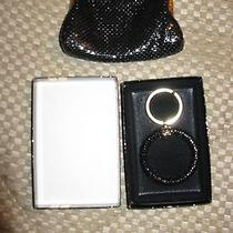 2 Pc Lot Whiting Davis Coin Purse Black Metal Mesh Brass Plus New Boxed Key Ring Photo