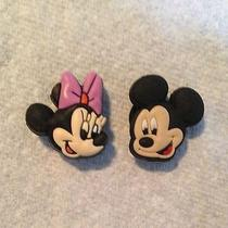 2 Pcs Mickey & Minnie Mouse Shoe Charms Fits Crocs Mickey Mouse Shoe Charms Photo