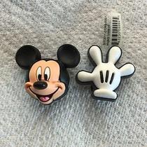 2 Pcs Mickey Mouse & Glove Jibbitz Mickey Mouse & Glove Shoe Charm Fits Crocs  Photo