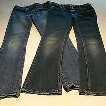 2 pr.girls Sz. 10 R Blue Jeans est.89 place&levis Slim Straight Fit Photo