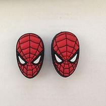 2 Spider-Man Shoe Charms Fits Crocs Spider-Man Face Shoe Charms Spider-Man Mask Photo