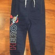 2 T Baby Gap Blue Superman Joggers Sweat Pants Boy Toddler Outfit Nwt  Photo