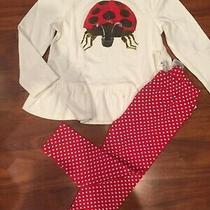 2 T Baby Gap Gymboree 2pc Eric Carle Ltd. Ed Ladybug Red Heart Leggings Nwt Photo