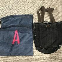 2 Thirty One Frayed Edge Denim Jean Hobo Shopper Tote Bag Purse / a Backpack Photo