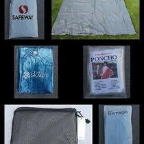2 Totes Elements Poncho Unisex Eva Raincoats Adult Rain Coat Rainwear Jacket Photo