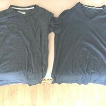 2 Women's Gray Tops/ Shirts Size Large Hudson & Barrow and Abbot Main Photo