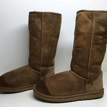 2 Womens Ugg Australia Winter Suede Brown Boots Size 9 Photo