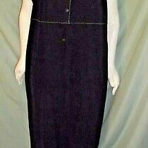 20/22w Classic Element Black W/white Threading Jumper Dress Chest 54