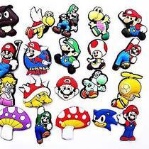 20 Super Mario Shoe Charm Fits Jibbitz Croc Shoes & Bracelets Photo