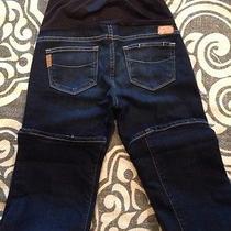 200 Paige Lux Designer Maternity 25x28.5 Cowboy Boot Premium Jeans Tuscan Wash Photo