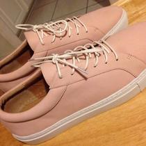 200 Womens Bettye Muller Blush Pink Leather Fashion Sneakers Size 9.5 M  Photo