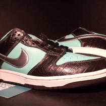 2005 Nike Dunk Low Pro Sb Aqua Green Chrome Black White Diamond 304292-402 10.5 Photo