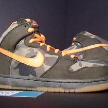 2006 Nike Dunk High Pro Sb Brian Anderson Camo Olive Green Orange 305050-281 10 Photo
