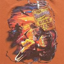 2006 Sturgis Bike Week Men's Rust T Shirt Black Hills Sd Harley Mc Rally Size L Photo