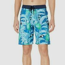201 Hurley Men's Blue Printed Phantom Costa Rica Swim Trunks Swimwear Size 38 Photo