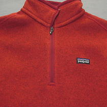 2010 Patagonia Fire Red 1/4 Zip Better Sweater Jacket Womens Xs Mint Photo
