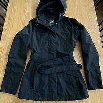 2012 North Face Hyvent Ayhr Black Hooded Belted K Jacket Trench Coatxs Photo
