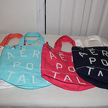 2013 Aeropostale Women's Signature Tote Bag Lot of 4 - Nwt Photo