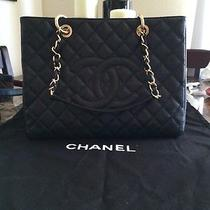 2013 Chanel Grand Shopper Tote Free Chanel Earrings W/box Photo