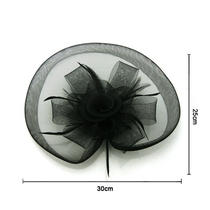 2013 New Fancy Floral Feather Veil Hat Fascinator Clip Head Piece Headpiece Photo
