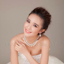 2013 New Flash Diamond Imitation Pearl Princess Bride Necklace Chain Jewelry 126 Photo