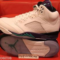 2013 New Nike Air Jordan 5 v Sz 9 Retro Grapes Purple Emerald Teal White Aqua Photo