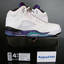 2013 New Nike Air Jordan v 5 Retro Grape Aqua Xi 11 Concord Ds (Youth Size 4.5y) Photo