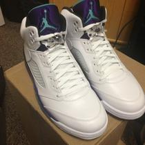 2013 Retro 5 Grape Ice Aqua Nike Jordan Ds Sz 12 in Hand 136027-108 Mens Air Photo