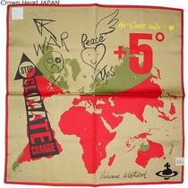 2013new Vivienne Westwood Handkerchief / Mini Scarf World Climate Msg Japan-Ltd Photo