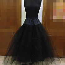 2014 Black Wedding Natural Bridal Underskirt No Hoop Crinoline Prom Petticoat Photo