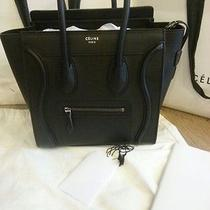 2014 Brand New Authentic Celine Micro Luggage Tote ( Black Drummed Leather)  Photo