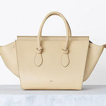 2014 Celine Tan Beige Crisped Calfskin Drummed Leather Small Tie Phantom Bag Photo