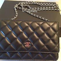 2014 Chanel Fall Black Lambskin Black Wallet on a Chain Woc Quilted Bag Gold Hdw Photo