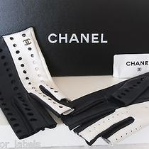 2014 Chanel Two Tone Perforated Leather Cc Fingerless Gloves Size 7.5 Nwt Photo