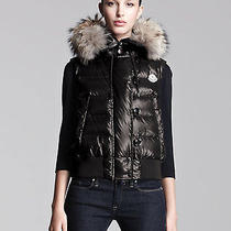 2014 Moncler Coyote-Trim Lacquered Puffer Vest Jacket in Size 2 (Med) 1190 Photo