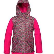 2014 Roxy Girls Xs Rizzo Snowboard Ski Snow Jacket Ivy Green Pink 139.95 6 7  Photo