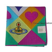 2014new Vivienne Westwood Handkerchief / Mini Scarf Orb Card Suit Heart Diamond Photo